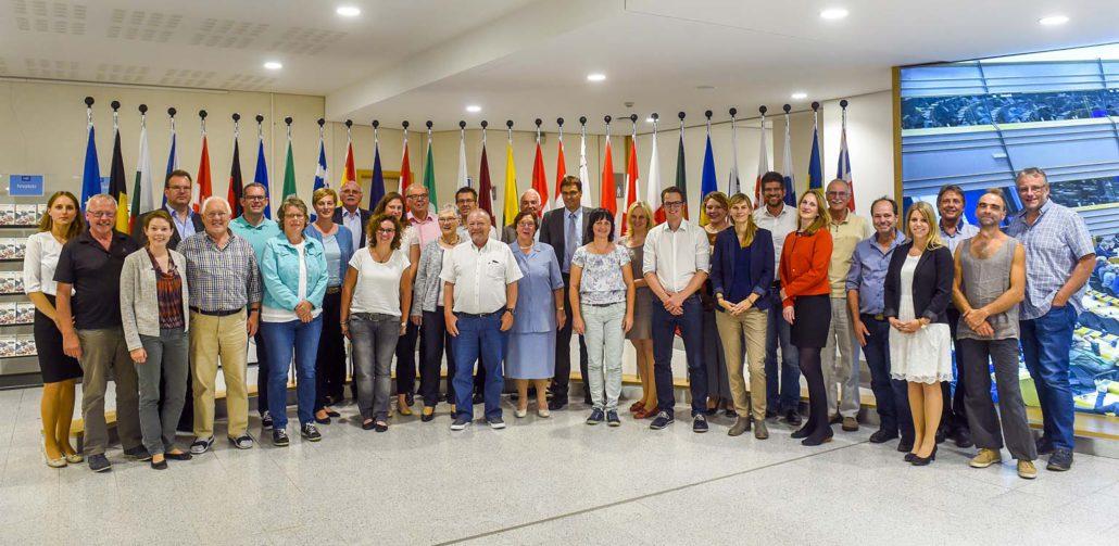 Südwestfälische LEADER Regionalmanagements und LAGn besuchen das Europäische Parlament in Brüssel